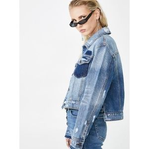 Dolls Kill Jackets & Coats - Dolls Kills Cropped  Denim Jacket.